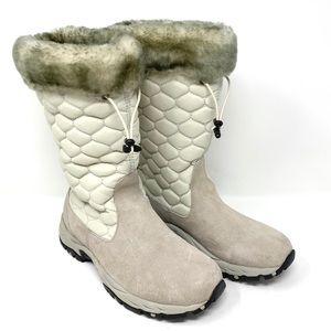 L.L. Bean Winter Snow Boots, Taupe Gray Faux Fur
